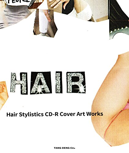 """""""Hair Stylistics CD-R Cover Art Works"""" BOOK WITH CD """"BEST!"""" (TANG DENG)"""