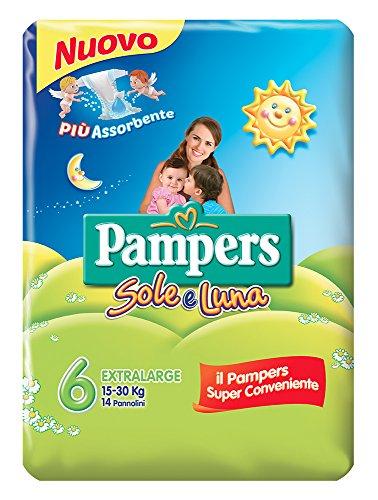 Pampers Sole & Luna extrabreiter Windeln, Größe 6(15–30kg), 14Stück