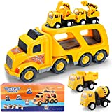 Construction Truck Toys for 1 2 3 4 Years Old Toddlers Child Kids Boys, Cars Toys Set, Play Vehicles...