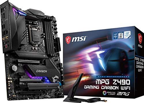 MSI MPG Z490 ゲーミングカーボン WiFiゲームマザーボード (ATX、第10世代 Intel Core、LGA 1200ソケット、DDR4、SLI/CF、デュアルM.2スロット、USB 3.2 Gen 2、Wi-Fi 6、DP/HDMI、Mystic Light RGB)