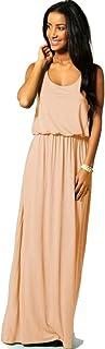 Mikos Damen-Kleid, Bodenlanges Maxikleid, ideal für Sommer und Urlaub, Boho-Style, S, M, L 36 38 40 369