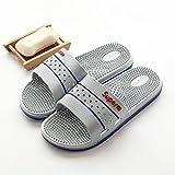 El secado rápido del dedo del pie zapatos de la casa abierta, zapatillas de masaje, baño de interior sandalias antideslizantes y zapatillas, zapatillas de reflexología gray_41-B, la vuelta a las sanda