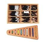 Yx-outdoor Matematica Montessori per Bambini Che impara Giocattoli con Perline, educazione prescolare Internazionale, ausili didattici per Scale con Perline Colorate, 2 Pezzi