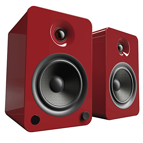 Altavoces Kanto YU6 con Bluetooth y preamplificador Phono - Rojo Brillante