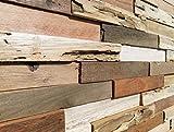 WoodyWalls 3D Reclaimed Barn Wood Wall Panels | DIY Glue and Nails Installation | Premium Set of 10 Panels (9.5 sq. ft. per Box) Original Rustic