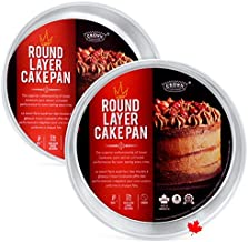 """Crown 9 inch Cake Pans - 2"""" Deep, 2 Pack, Heavy Duty, Easy Release, Pure Aluminum, 23 cm Cake Pan"""