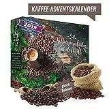 ganze Kaffee Bohnen Adventskalender I Weihnachtskalender mit 24 edlen Kaffees aus aller Welt I erlesener feiner gemahlener Kaffee Probierset zum Verschenken