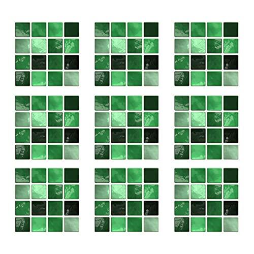 RAILONCH 30 unidades de adhesivos para azulejos de PVC, mosaico, autoadhesivos, resistentes al agua, para cocina, baño (verde)