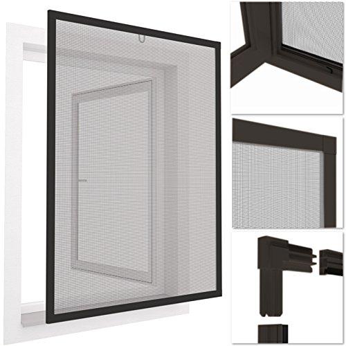 Mosquitera con marco de aluminio para ventanas easyLINE- 130 x 150 cm - gris