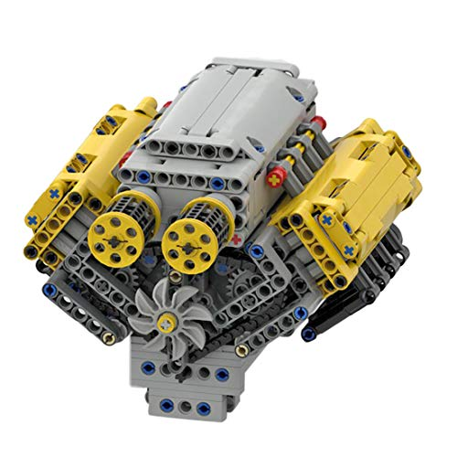 770Pcs Dynamic Version Simulation V8 Engine Bricks Model Compatible with Lego, MOC DIY Block Stem Display Decoration Collection Building Toy (Authorized and Designed by Bricktec Designs)