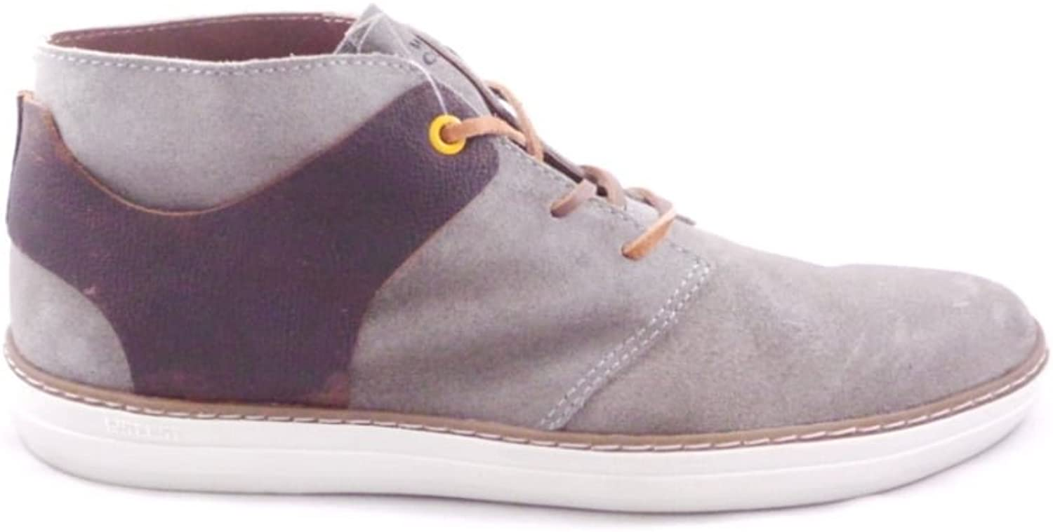 West Coast Modena Beige Suede and Brown Leather Lace-Up Boot