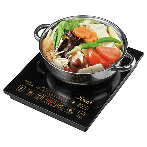 Rosewill 1800 Watt 5 Pre-Programmed Settings Cooktop