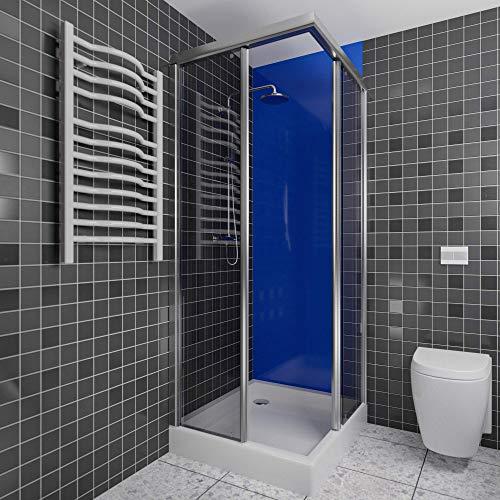 Wallando Wandverkleidung - Kunststoffplatte als Duschrückwand für Dusche/Badewanne - Duschplatte/Duschwand (200x100cm, blau)