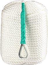 CarBole Twisted Anker Rope, 1/2 inch 300 Voeten Polypropyleen Touwen Drie Strand Gevlochten Boot Dockline Mooring Lijnen met Thimble - Zeer Tough en Duurzaam- 5,850 LB Breaking Strain- Super Sterk