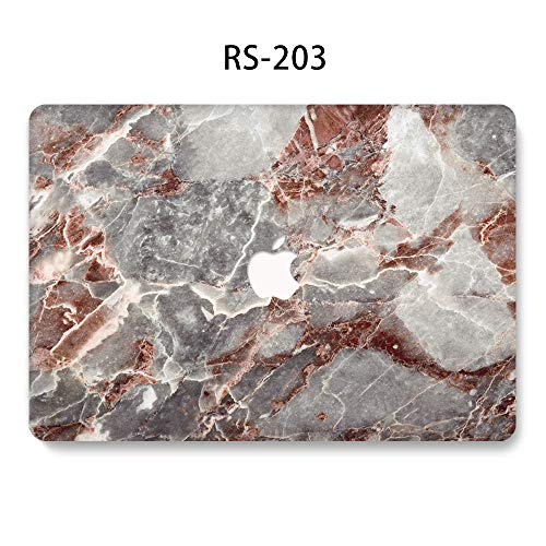 UZAHSK MacBook Air 13 Inch case (2020 & 2019 & 2018 Release) A2337M1/A2179 / A1932 Plastic Hard Shell Cover Only Compatible With MacBook Air 13 inch with Touch ID. (Marble-203)