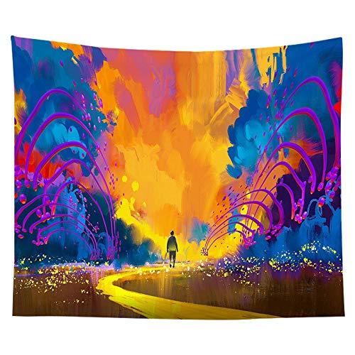 Tapiz de pared colorido tapiz indio mandala cielo puesta de sol tapiz Boho decorativo revestimiento de pared tela de fondo A1 180x200cm
