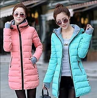 HBEI 10 Colors Winter Women Fashion Ultra Light Down Jacket Duck Down Hooded Jackets Warm Slim Coat Female Solid Outwear Clothing (Yellow,XXXL)