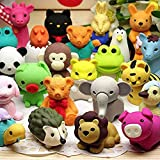 Axe Sickle 35 pcs Non-Toxic Pencil Eraser, Removable Assembly Zoo Animal Eraser for Party Favors, Fun Games Prizes,Kids Puzzle Toys.