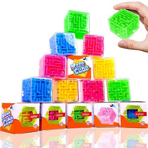 German Trendseller 12 x Ultra Cube - 3D Marble Puzzle ┃ Knobelspiele ┃ Klassiker ┃ Mitgebsel ┃ Geduldspiel - IQ - Mind Game ┃ Einzeln Verpackt ┃12 STK