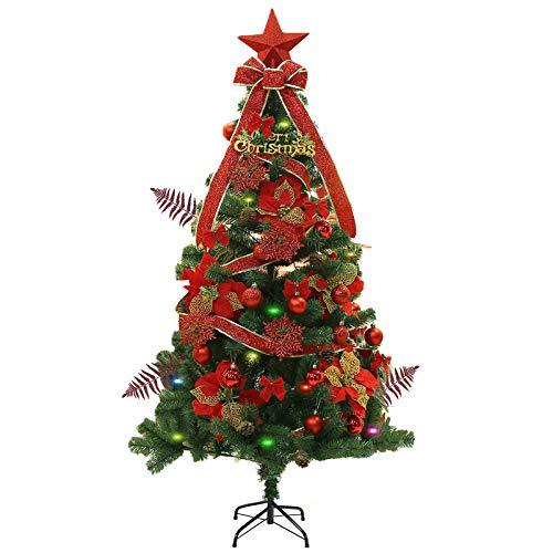 クリスマスツリー 150cm セット 北欧風リアルツリー グリーンフィルム葉 高濃密度 豪華 装飾 クリスマスグッズ鉄製のスタンド 組立簡単 収納便利 イベント用 インテリア用品 クリスマスグッズ LEDイルミネーションライト