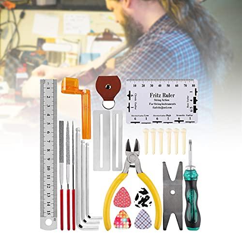 Kit de herramientas de reparación de guitarra, junta de cuerda de mantenimiento Kit de herramientas de mantenimiento de guitarra para guitarra