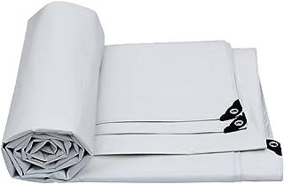 DlT Lona de PVC Blanca, Cubierta de Lona Impermeable para el Techo Prime Cubierta de Lluvia para jardín, Tela de Hoja molida, Lona de Camping para Carpa a Prueba de Humedad a Prueba de Humedad