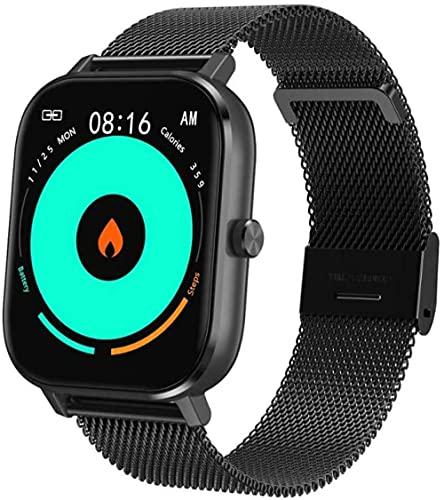 Reloj inteligente para hombres y mujeres, reloj inteligente para teléfonos Android y teléfonos Ios 1.54, monitor de frecuencia cardíaca, IP67, resiste...