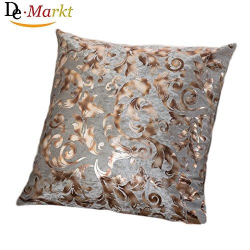 Demarkt–Almohada Fundas De Almohada Fundas De Cojín (Home Decoración de Plástico gris 45* 45cm