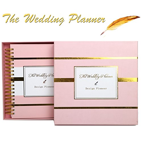 Wedding Planner Book for Wedding Schedule Organize Diary Unique Hardcover Notebook Keepsake Engagement Gift in Pink Color