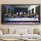 La última cena de Leonardo Da Vinci Famoso lienzo abstracto pintura escandinava cuadro de arte de pa...