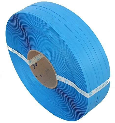 1 Bobina Fleje plástico Azul. Fleje Manual de 1.200m lineales. Medidas Fleje: 13 x 0,8mm. Calidad de la bobina Gofrado.