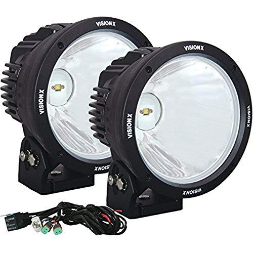 """Vision X Lighting (CTL-CPZ810KIT) 8.7"""" Cannon 1, 90W LED, 10 Degree Narrow, Light Kit, Black"""
