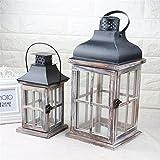 simonshop Europea de madera vela linterna hogar boda candelabro de techo decorativa,...