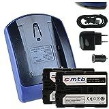 2 Batteries + Chargeur (USB/Auto/Secteur) FM500H pour Sony DSLR Alpha A300 A350./ SLT-A58 A65 A77 A68. / ILCA-77M2 - v. liste!
