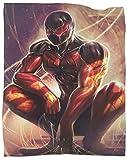 SSKJTC Manta suave y ligera escarlata de Spiderman muscular para dormitorio de...