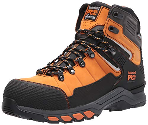 Timberland PRO Men's Hypercharge TRD 6' Composite Safety Toe Waterproof Industrial Hiking Work Boot, Orange, 13