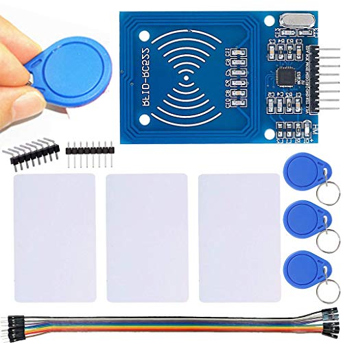 DAOKI RFID Module RC522 Kits MFRC RC522 RFID Reader Module with S50 13.56MHz RFID White Card and Key Card for Mifare Arduino Raspberry Pi