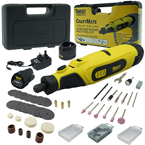SabreCut CraftMate SCMG002UK Lithium Ion 10.8v Cordless Rotary Tool Multipurpose with 42 Accessories Included