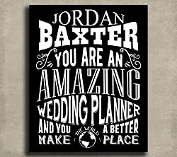 This thank you gifts for your wedding planner can definitely be customized!