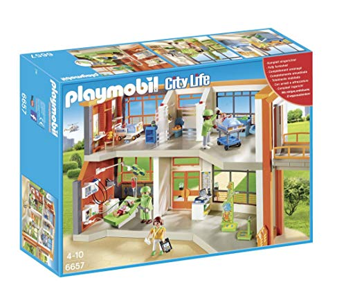 Playmobil 6657 City Life Furnished Children's Hospital, Multi-Colour
