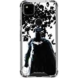 Skinit Clear Phone Case Compatible with Google Pixel 4a - Officially Licensed Warner Bros Batman and Bats Design