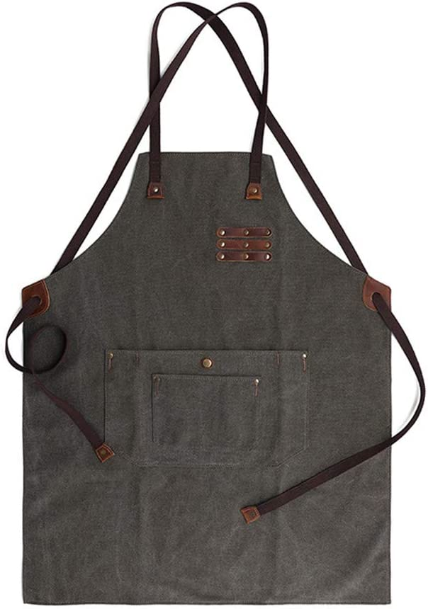 HAOXIANG Wooden Work Apron Retro Water Wearable Super special price Oil Proof Cheap and C