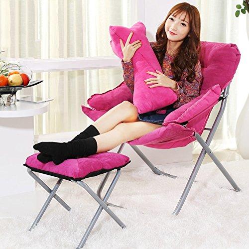 MUMA Chaises longues L-184 Sofa Chaises Chaise Longue Pliante Chaise D'ordinateur Fauteuils Inclinables Chaise de loisirs (Couleur : Rose rouge)