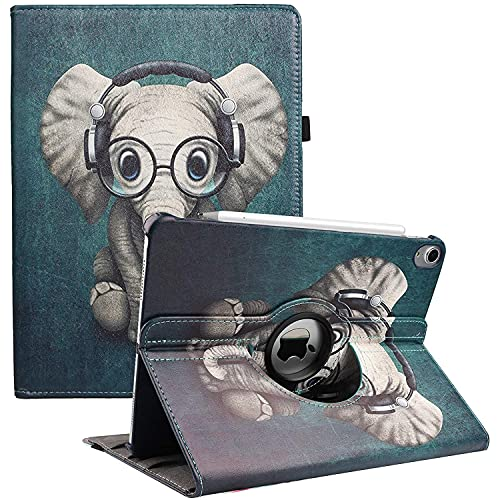 Hülle für Neues iPad Air 4. Generation 2020 - iPad Air 4 Hülle 10,9 Zoll - 360 Grad Drehbarer Smart Cover Hülle, Intelligent Abdeckung Schlafen/Wachen (Elephant)
