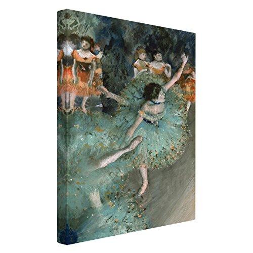 Bilderwelten Cuadro en Lienzo - Edgar Degas - Bailarina basculando (Bailarina Verde) - Alto 3:2, Cuadros Cuadro Lienzo Cuadro sobre Lienzo Cuadro Moderno Cuadro Decoracion, Tamaño: 120 x 80cm