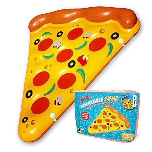 Mikamax - Inflatable Pizza - Pizza Inflable - Flotador de Pizza - 1,9m - flotadores Gigantes - Hinchables para Piscina Pizza