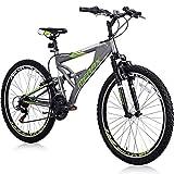 Merax Mountain Bike, Front Suspension, 24-Speed, 26-inch Wheel with Disc Brake