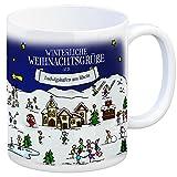 trendaffe - Ludwigshafen am Rhein Weihnachten Kaffeebecher mit winterlichen Weihnachtsgrüßen - Tasse, Weihnachtsmarkt, Weihnachten, Rentier, Geschenkidee, Geschenk