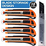 Best Utility Knives - REXBETI 4-Pack Utility Knife with Extra 10 Blades Review