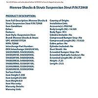 モンロー ショック & ストラット 72968 ストラット